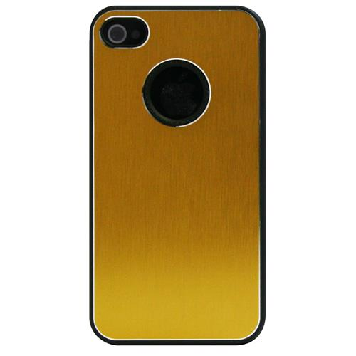 Exian iPhone 4/4S Hard Plastic Case Brushed Metallic Gold