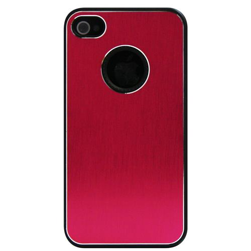 Exian iPhone 4/4S Hard Plastic Case Brushed Metallic Pink