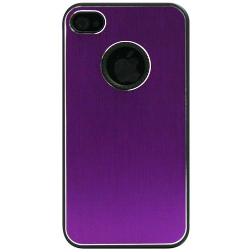 Exian iPhone 4/4S Hard Plastic Case Brushed Metallic Purple