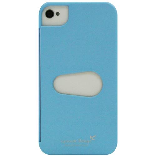 Exian iPhone 4/4S Hard Plastic Case with Card Slot Blue
