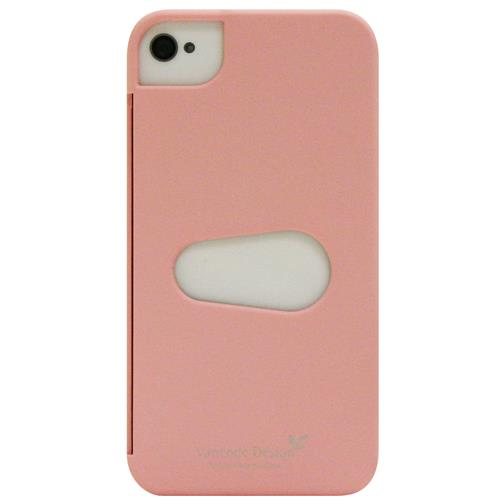 Exian iPhone 4/4S Hard Plastic Case with Card Slot Pink