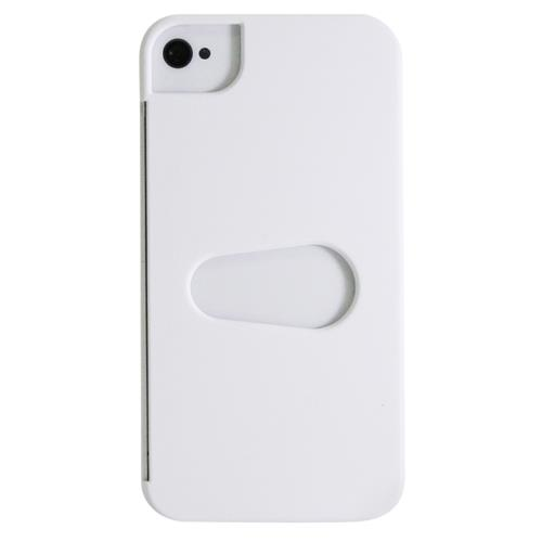 Exian iPhone 4/4S Hard Plastic Case with Card Slot White