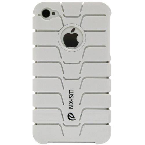 Exian iPhone 4/4S Hard Plastic Case Fishbone Pattern White