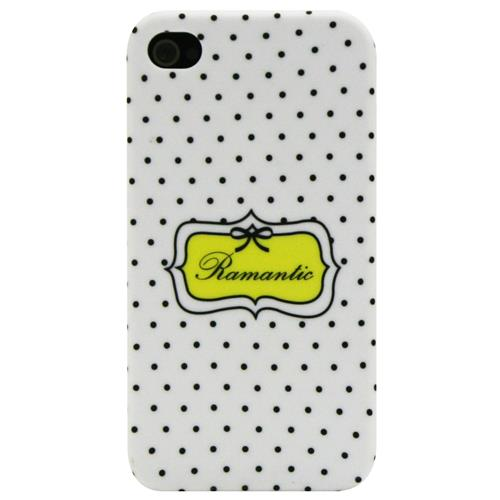 Exian iPhone 4/4S Hard Plastic Case Ramantic White