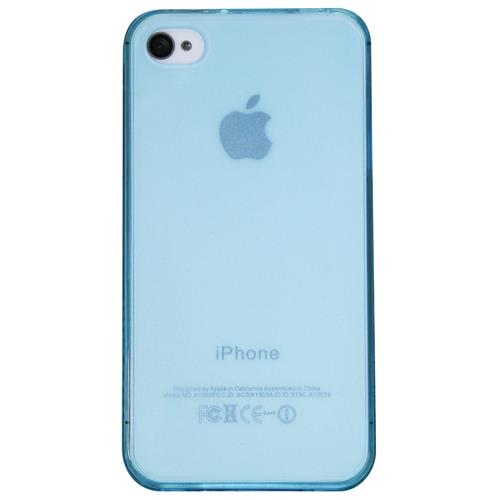 Exian iPhone 4/4S TPU Case Transparent Forsted Blue