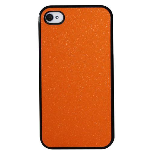 Exian iPhone 4/4S Hard Plastic Case Matte Sparking Orange