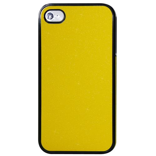 Exian Fitted Hard Shell Case for iPhone 4S;iPhone 4 - Yellow