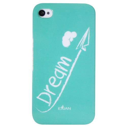 Exian iPhone 4/4S TPU Case Exian Design Dream on Teal
