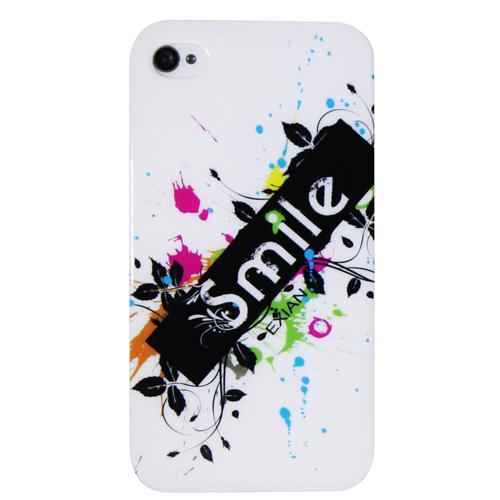 Exian iPhone 4/4S TPU Case Exian Design Smile on White