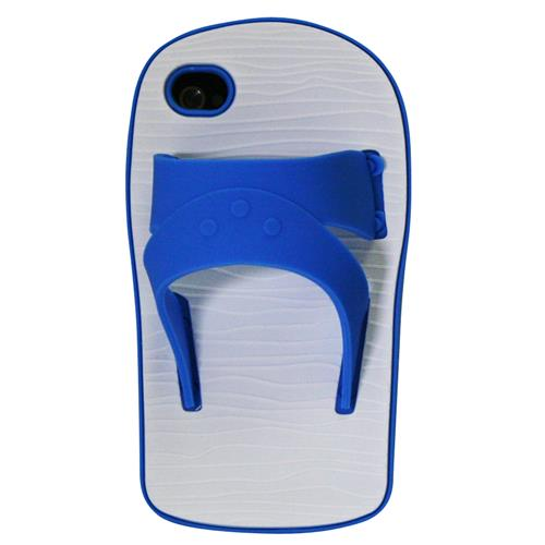 Exian iPhone 4/4S Silicone Case Sandal Blue