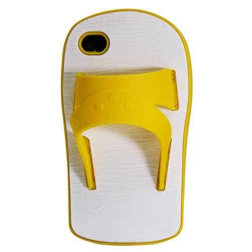 Exian iPhone 4/4S Silicone Case Sandal Yellow