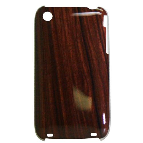 Exian iPhone 3G/3GS Hard Plastic Case Exian Design Wood Pattern Brown