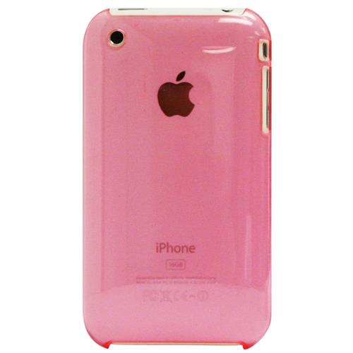 Exian iPhone 3G/3GS Hard Plastic Case Transparent Pink