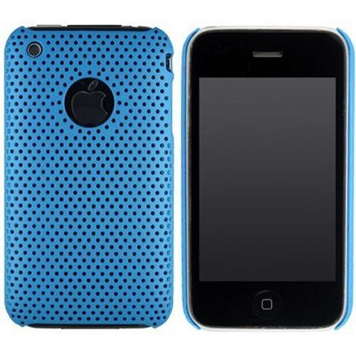 Exian iPhone 3G/3GS Soft Plastic Case Net Pattern Blue