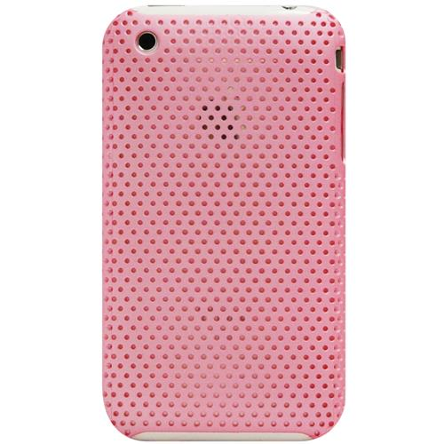Exian iPhone 3G/3GS Soft Plastic Case Net Pattern Pink