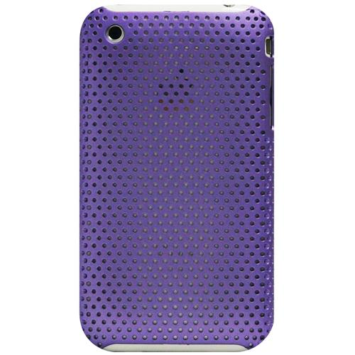Exian iPhone 3G/3GS Soft Plastic Case Net Pattern Purple