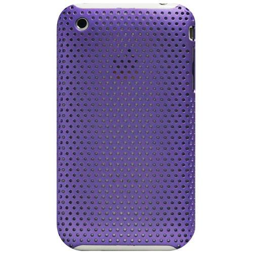 Exian iPhone 3G/3GS Soft Plastic Case Net Pattern Purple
