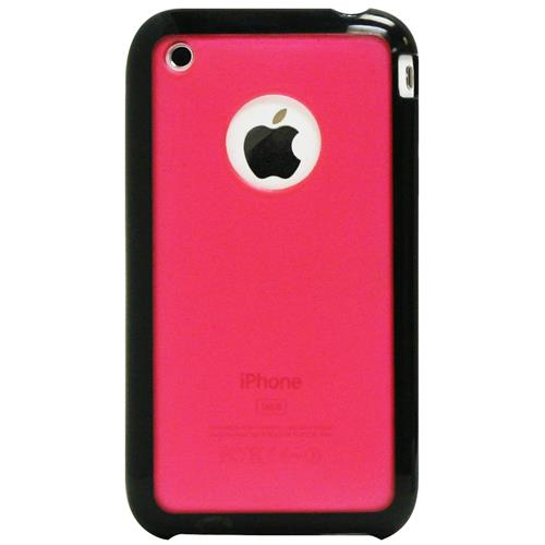 Exian iPhone 3G/3GS Soft Plastic Case with Rubber Edges Frosted Pink