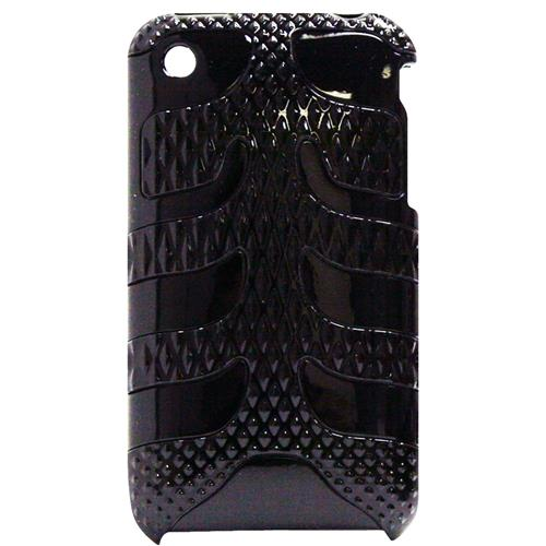 Exian iPhone 3G/3GS Hard Plastic Case With Fishbone Pattern Black