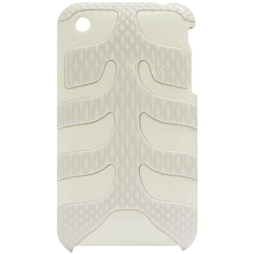 Exian iPhone 3G/3GS Hard Plastic Case With Fishbone Pattern White