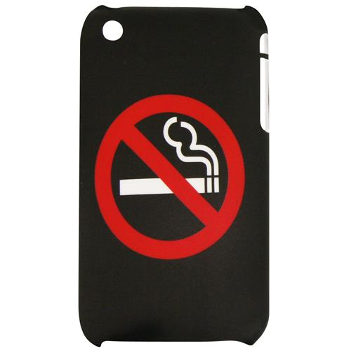 Exian iPhone 3G/3GS Hard Plastic Case No Smoking Black