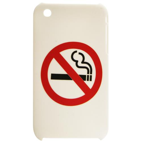 Exian iPhone 3G/3GS Hard Plastic Case No Smoking White