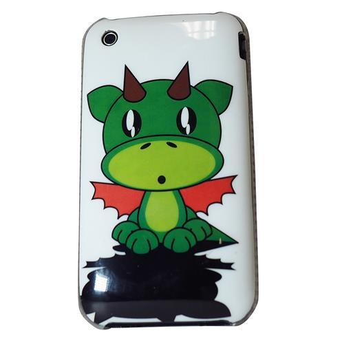 Exian iPhone 3G/3GS Hard Plastic Case Exian Design Cartoon Dragon on White
