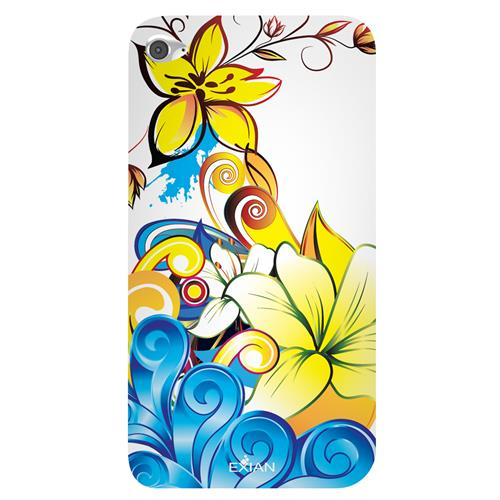 Exian iPod Touch 4 TPU Case Exian DesignCCS Floral Pattern