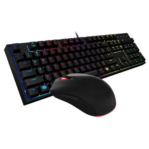 Cooler Master Storm MasterKeys Lite L Combo RGB Keyboard & Mouse, Mem-chanical Switches, Zoned RGB Lighting, Water Resistant