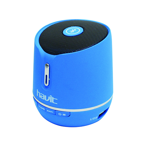 Havit Portable Wireless Bluetooth Speaker with FM + Memory Card Player_Blue