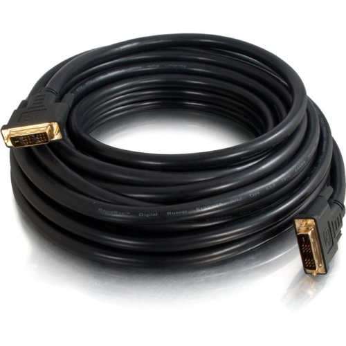 C2G 25ft Pro Series Single Link DVI-D Digital Video Cable M/M - In-Wall CL2-Rated