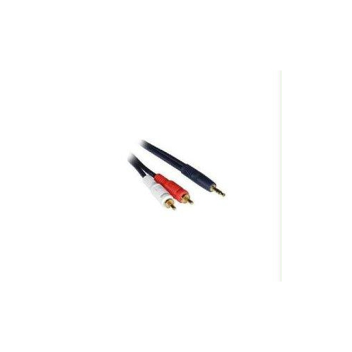 C2G 50ft Velocity One 3.5mm Stereo Male to Two RCA Stereo Male Y-Cable