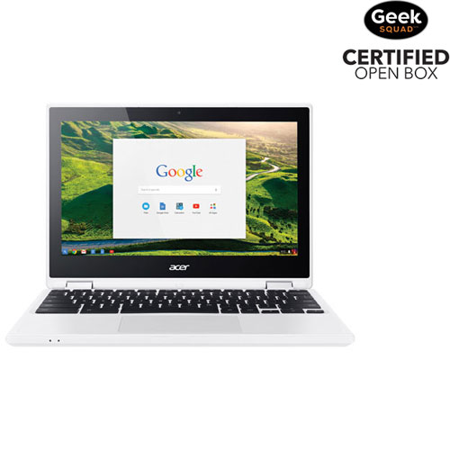 "Acer Chromebook 11.6"" Touch Laptop -White (Intel Celeron N3160/32GB eMMC/4GB RAM/Chrome OS)-Open Box"