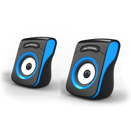 Havit HV-SK599 USB 2.0 Speaker_Black + Blue