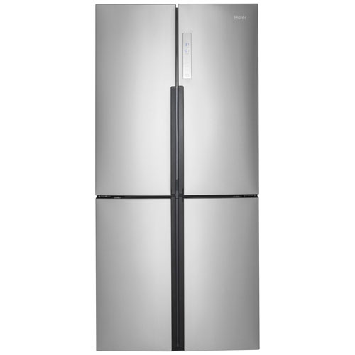 Haier 33 164 Cu Ft Counter Depth 4 Door French Door Refrigerator