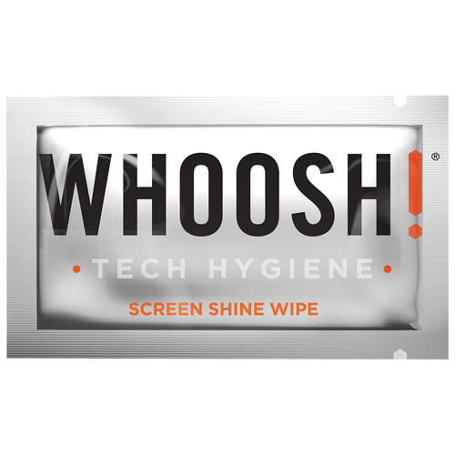 Lingettes Tech Screen Shine Wipes de Whoosh! - Paquet de 12