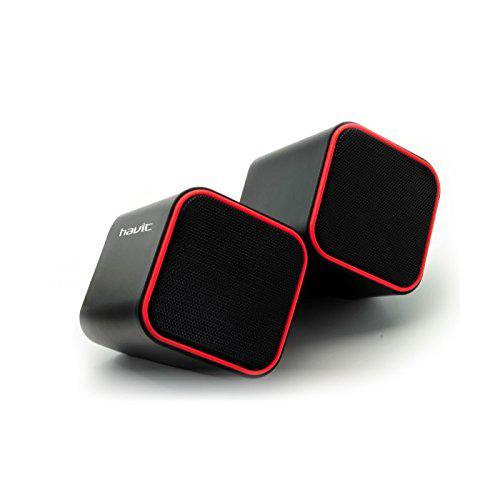 Havit HV-SK473 USB 2.0 Speaker_ Black + Red