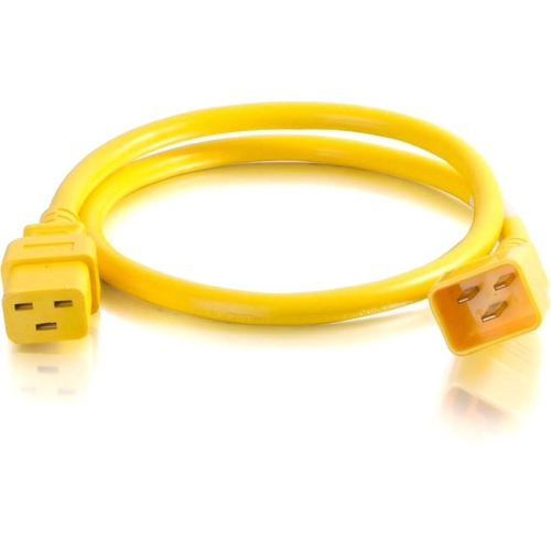 C2G 6ft 12AWG Power Cord (IEC320C20 to IEC320C19) - Yellow