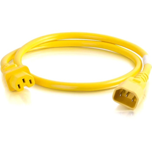 C2G 6ft 14AWG Power Cord (IEC320C14 to IEC320C13) - Yellow