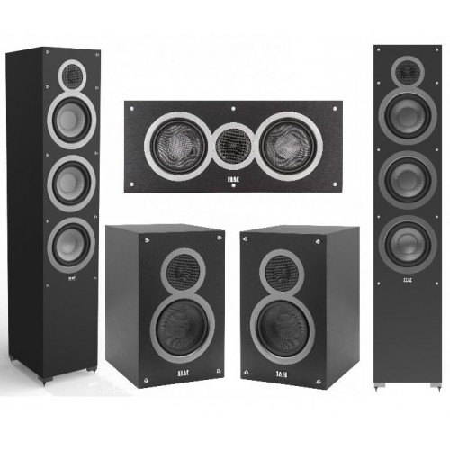 Elac Debut by Andrew Jones Speakers Deal - 2 Floor Standing Speakers (F6), 1 Pair of Book shelf speakers(B5) ,1 Center Spea C5