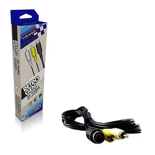 Retro-Bit 6 Feet S- Video RCA AV Cable For Sega Genesis 1