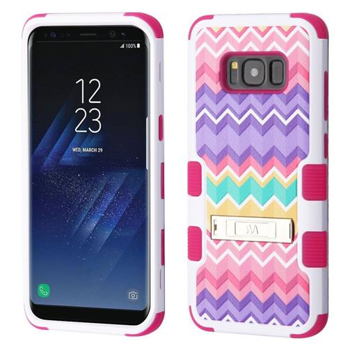 Insten Camo Wave Hard Hybrid Rubberized Silicone Cover Case w/stand For Samsung Galaxy S8, Colorful