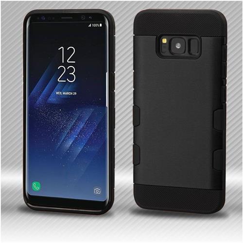 Insten Tuff Hard Hybrid TPU Cover Case For Samsung Galaxy S8 - Black