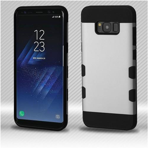 Insten Tuff Hard Dual Layer TPU Cover Case For Samsung Galaxy S8 - Silver/Black