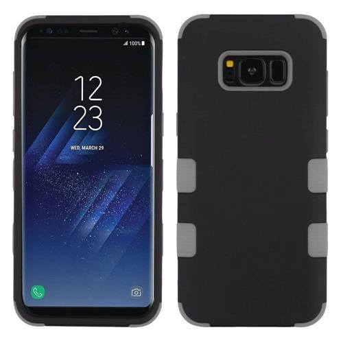 Insten Tuff Hard Dual Layer Silicone Cover Case For Samsung Galaxy S8 Plus - Black/Gray