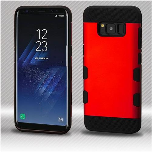 Insten Tuff Hard Hybrid TPU Cover Case For Samsung Galaxy S8 Plus - Red/Black