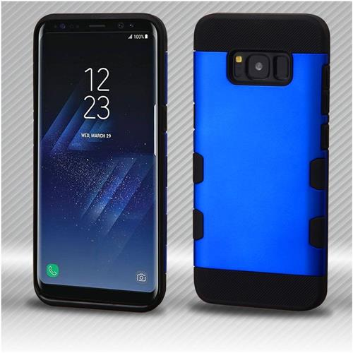 Insten Tuff Hard Hybrid TPU Cover Case For Samsung Galaxy S8 Plus - Dark Blue/Black