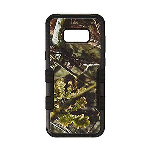 Insten Oak-Hunting Hard Rubber Silicone Cover Case For Samsung Galaxy S8 Plus, Black/Green