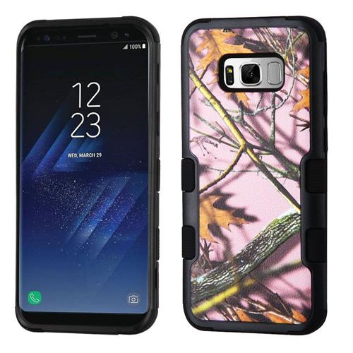 Insten Tuff Oak-Hunting Hard Dual Layer Rubber Silicone Case For Samsung Galaxy S8 Plus - Black/Pink