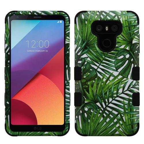 Insten Tuff Tropical Palms Hard Hybrid Silicone Case For LG G6 - Green/Black
